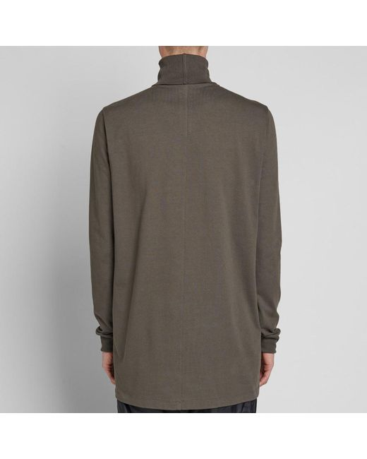 1f1467bb4d4f ... Rick Owens - Brown Roll Neck Sweat for Men - Lyst ...