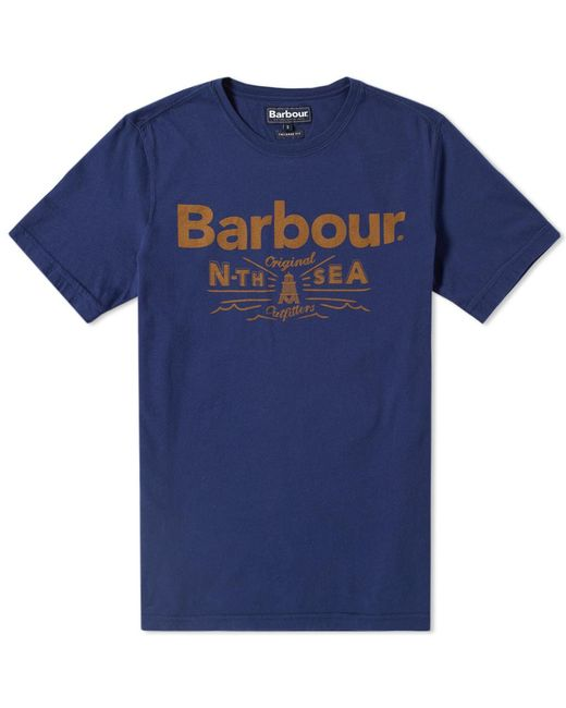 Barbour | Blue Cove Tee for Men | Lyst