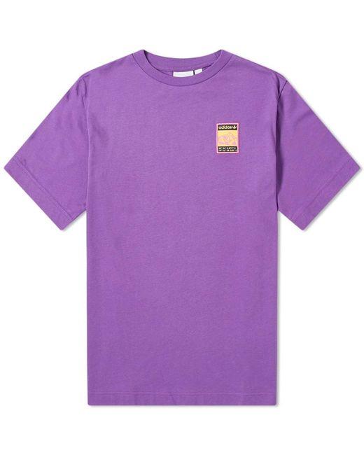 Adidas Purple Adiplore Graphic Tee for men