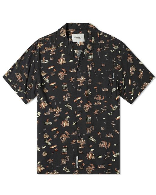 1dcd905b26e8b Carhartt WIP Ss Club Pacific Shirt in Black for Men - Save 33% - Lyst