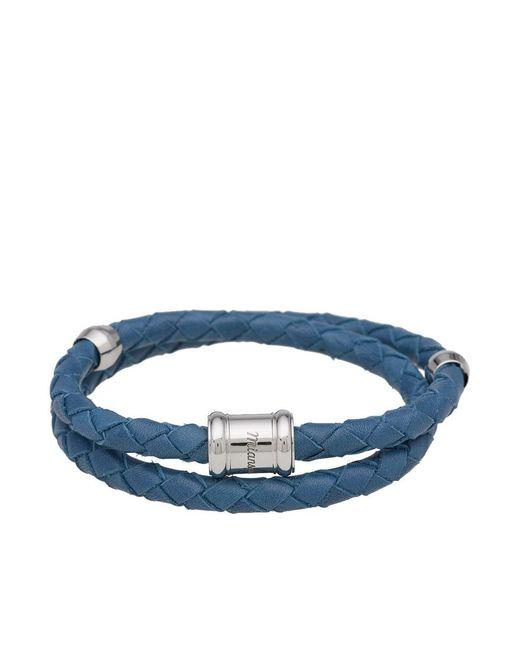 Miansai - Blue Leather Casing Bracelet for Men - Lyst