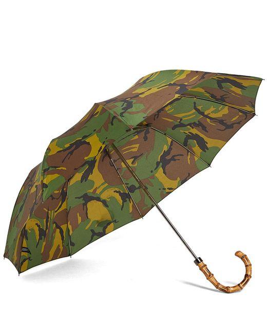 London Undercover - Green Whangee Telescopic Umbrella - Lyst