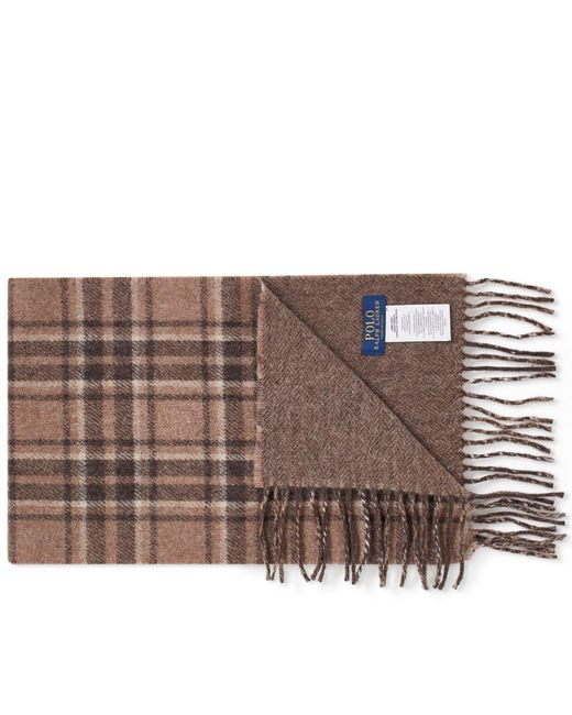 Polo Ralph Lauren - Brown Wool Plaid Scarf for Men - Lyst