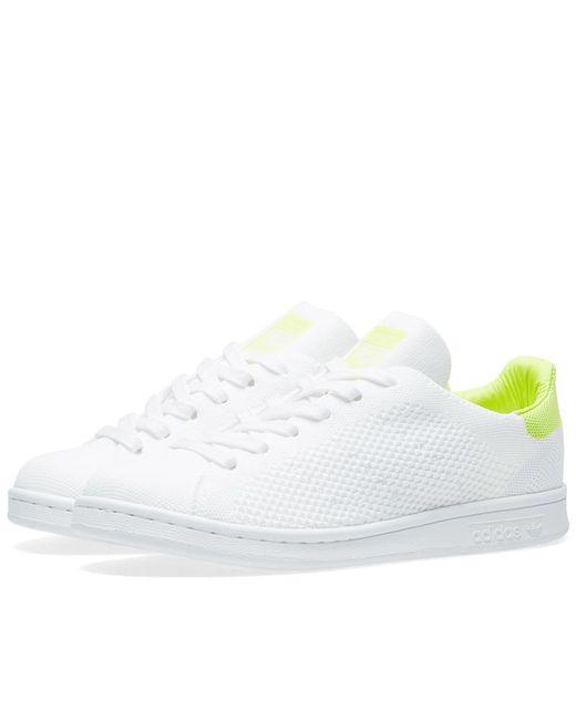 new style ae58f f062a ... Adidas - Tubular Defiant Primeknit W White Sneaker - Lyst ...