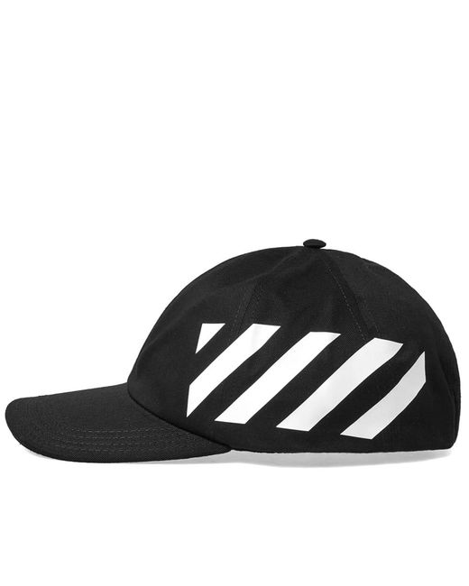 d91c6926210 Lyst - Off-White c o Virgil Abloh Black And White Diag Cotton Cap in ...