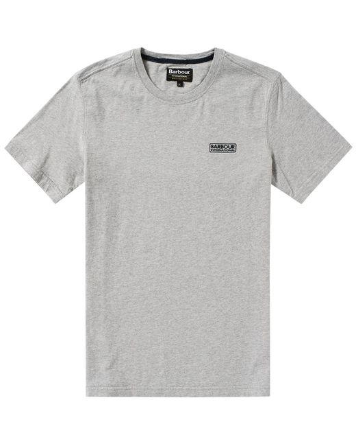 Barbour | Gray International Small Logo Tee for Men | Lyst