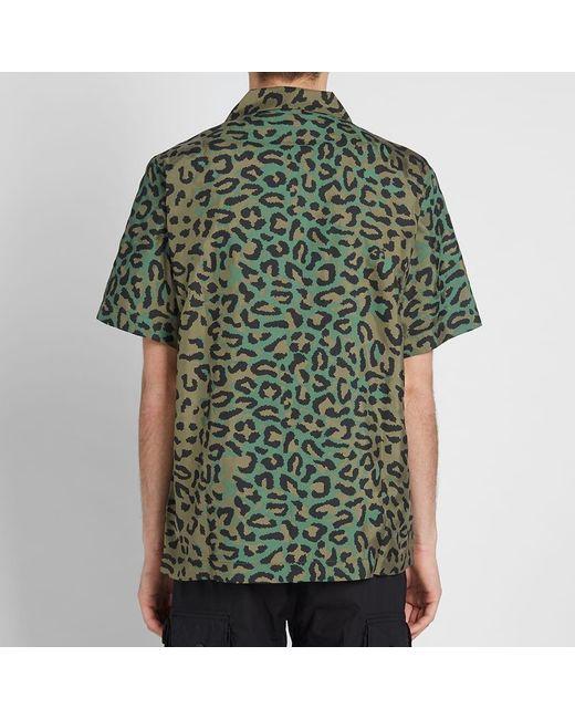 cb8d99474ee451 ... Maharishi - Green Short Sleeve Leopard Camo Vaction Shirt for Men -  Lyst ...