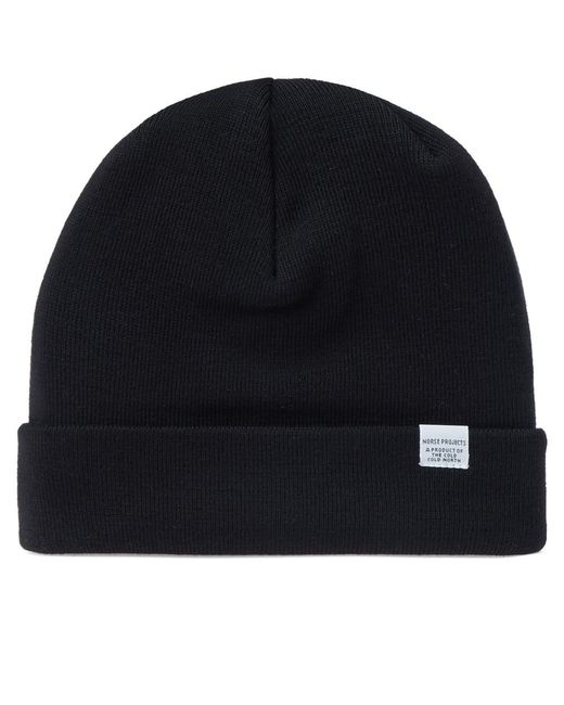 f58fd34a1ab Lyst - Norse projects Top Beanie in Black for Men