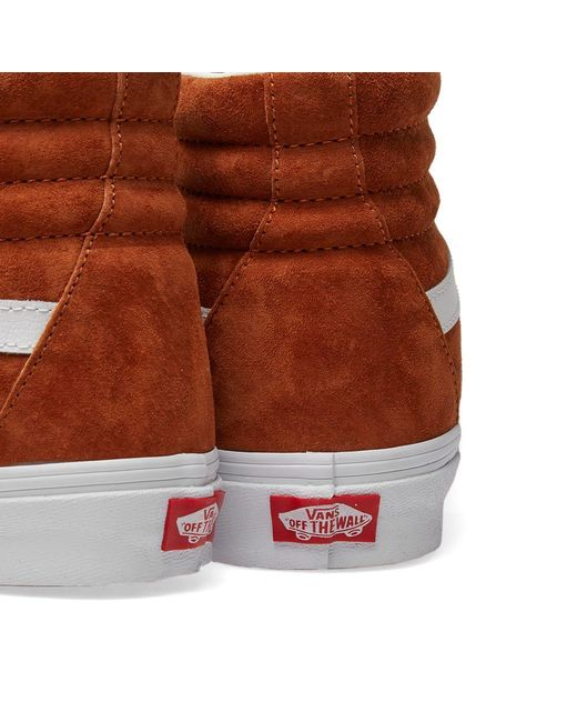 1f714aa1ca ... Vans - Suede Sk8-hi Reissue Trainers Leather Brown true White Uk Shoe  Si ...