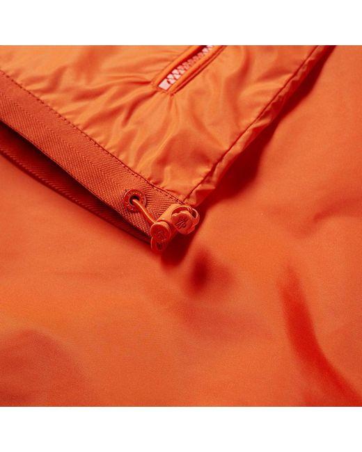 moncler orange windbreaker