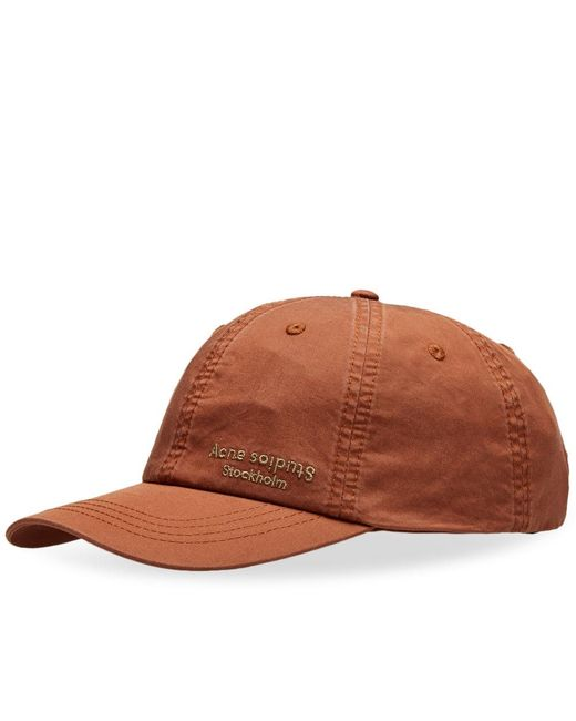 50ae21a3631 Lyst - Acne Studios Carliy Dye Cap in Orange for Men
