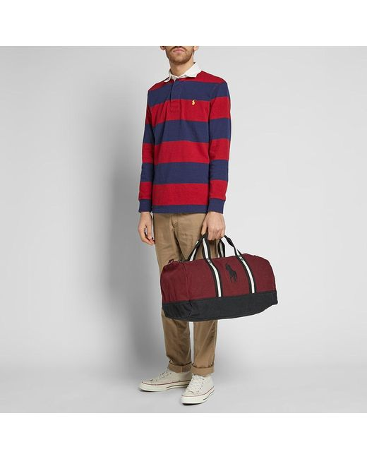 864d3c93e2 ... Polo Ralph Lauren - Red Canvas Polo Player Logo Duffle Bag for Men -  Lyst