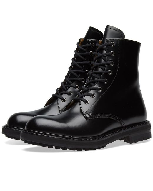 Alexander McQueen - Black Classic Derby Boot for Men - Lyst