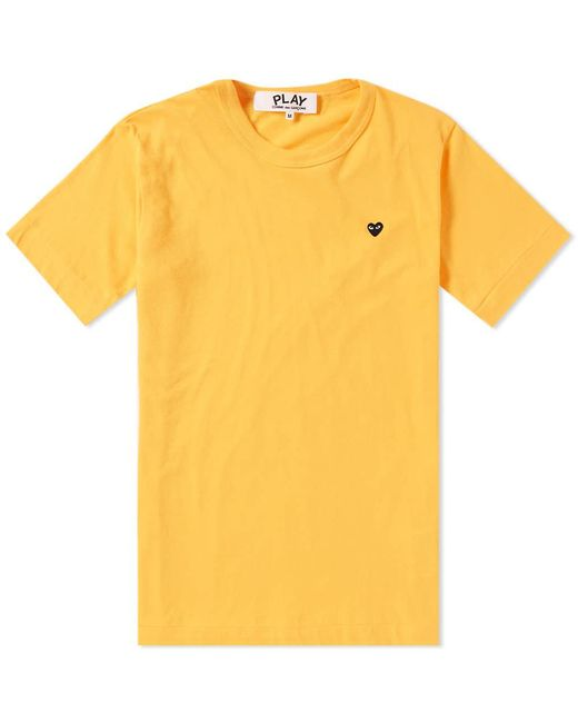 COMME DES GARÇONS PLAY - Yellow Comme Des Garcons Play Women's Colour Series Logo Tee - Lyst