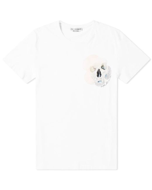 73323598 Alexander McQueen - White Skull Motif Print Tee for Men - Lyst ...