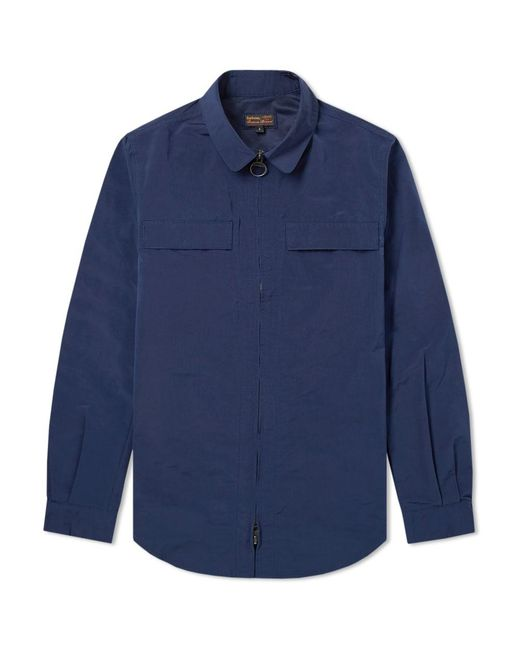 Barbour - Blue Heritage Hoad Overshirt Jacket for Men - Lyst