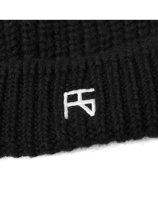 7b3242b4feecf ... Raf Simons - Black Atari Knit Beanie for Men - Lyst