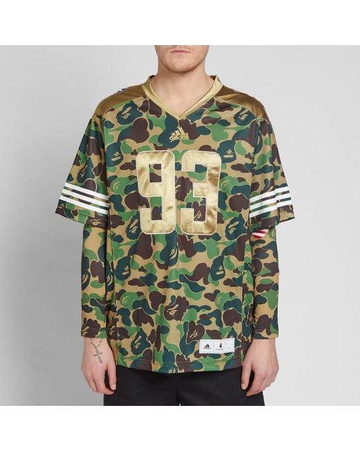 179c92a679c3 ... Adidas Originals - Green Adidas X Bape Jersey for Men - Lyst ...