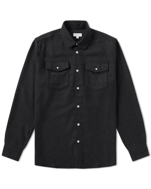 Soulland - Black Flannel Overshirt for Men - Lyst