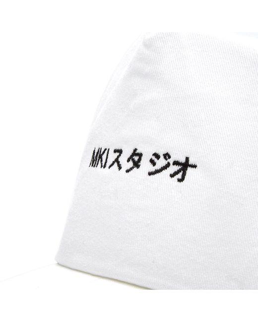 ... MKI Miyuki-Zoku - White Curved Peak Baseball Cap for Men - Lyst ... bc95e890195b