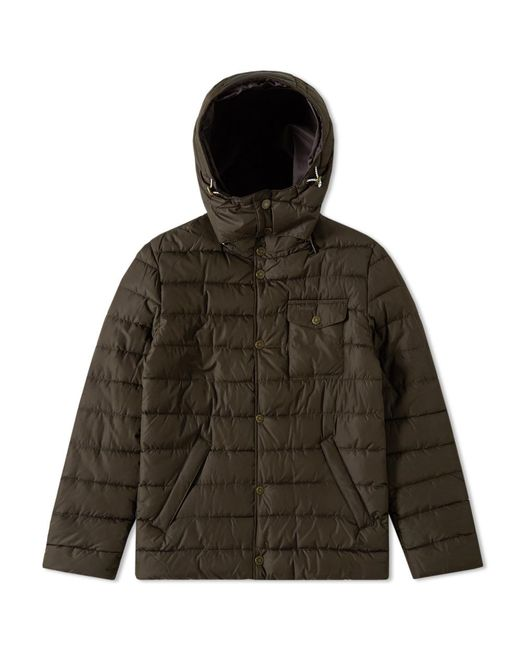 Barbour Cowl Quilt Jacket in Green for Men