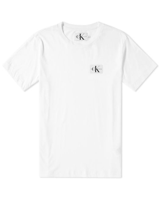 bd8f8e97 Calvin Klein Monogram Chest Badge Logo Tee in White for Men - Save ...
