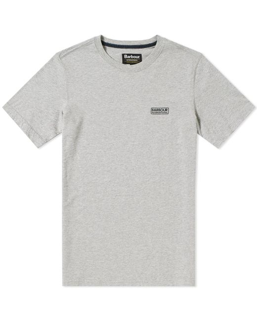 Barbour - Gray International Small Logo Tee for Men - Lyst