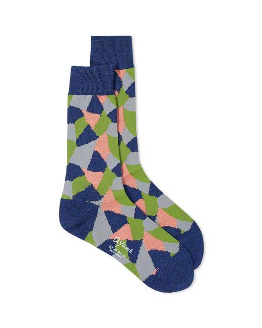 Ayame Socks - Blue Terracotta Sock for Men - Lyst