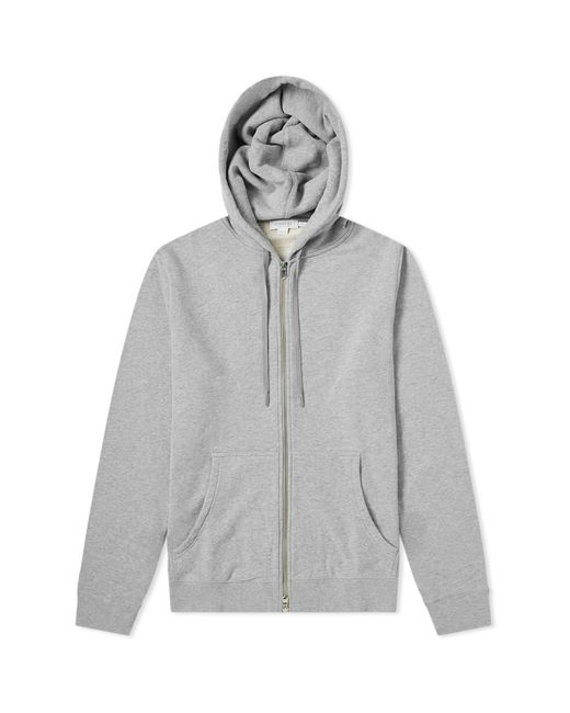 Sunspel - Gray Loopback Zip Hoody for Men - Lyst