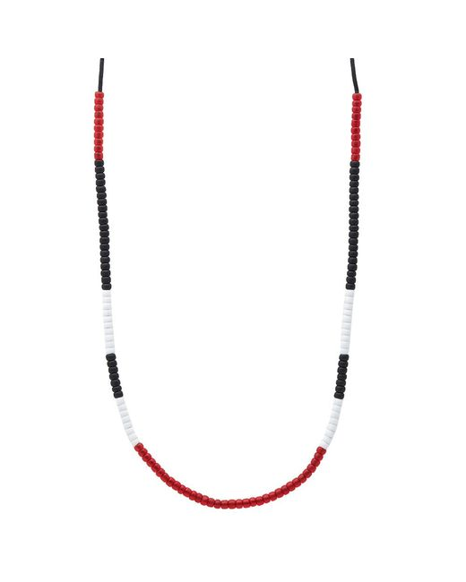 Neighborhood | Red Luker By Mixed Bead Necklace | Lyst