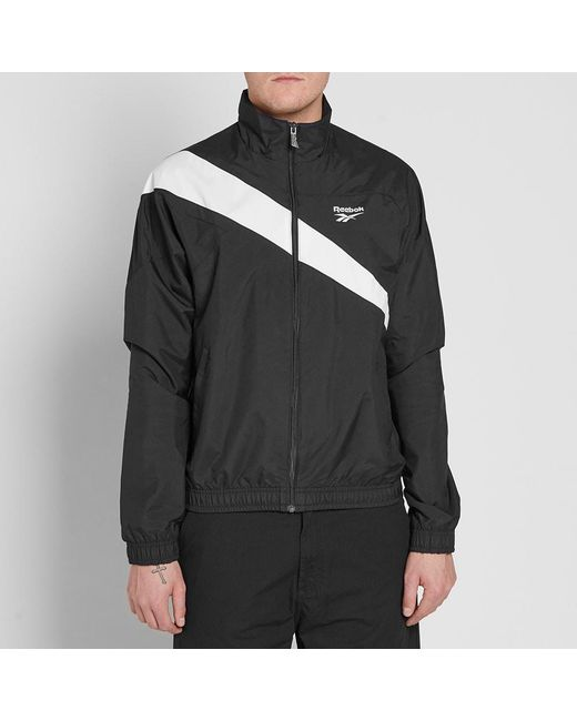 347ab20e27451 ... Reebok - Black Classics Track Top for Men - Lyst ...