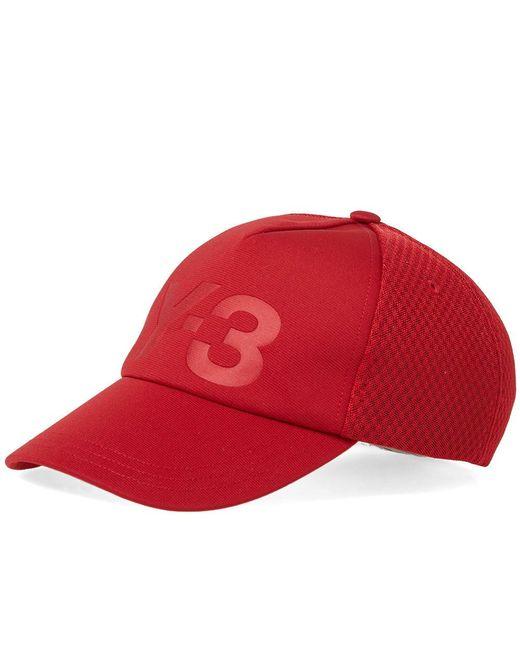 49eec0ec9 Lyst - Y-3 Trucker Cap in Red for Men - Save 45%