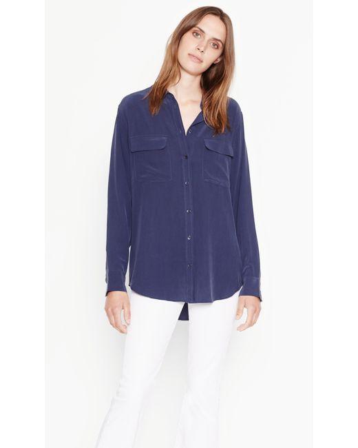 Equipment | Blue Signature Silk Shirt | Lyst