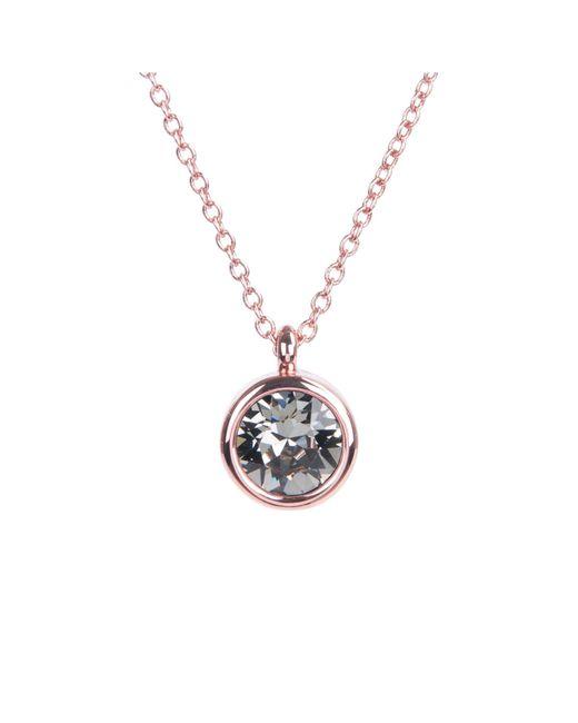 Karen Millen - Black Crystal Dot Necklace - Lyst
