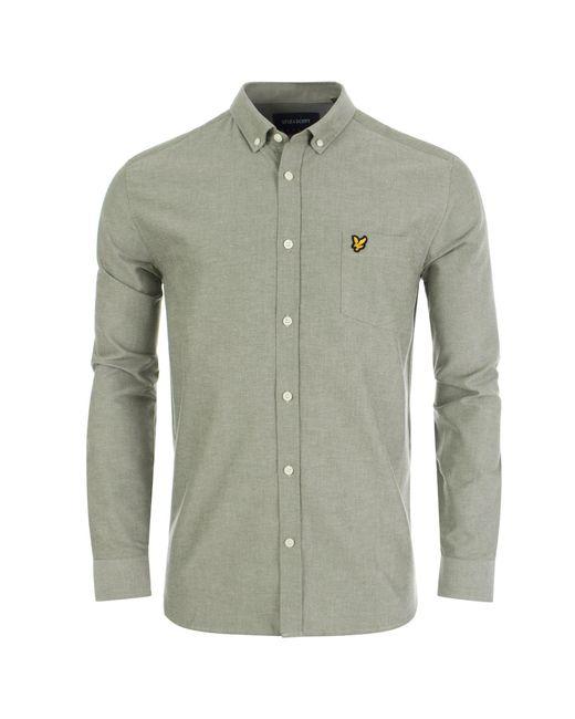 Lyle & Scott - Green Long Sleeved Oxford Shirt for Men - Lyst