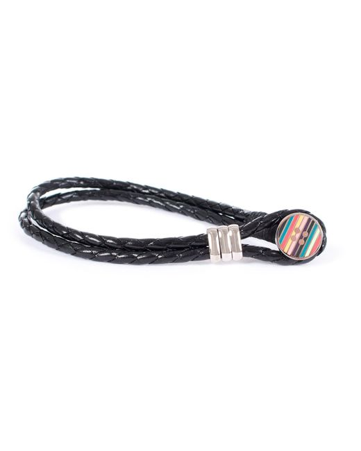 Paul Smith | Enamel Button Bracelet In Black | Lyst