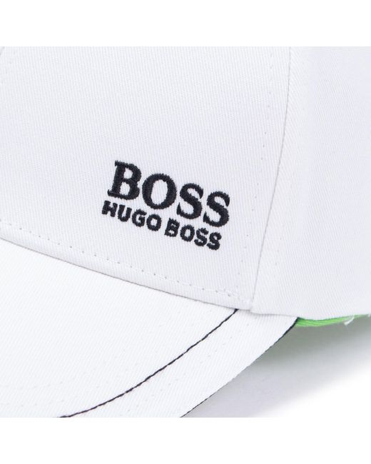 72738cba7cda1b ... BOSS - White Athleisure Logo Cap for Men - Lyst ...