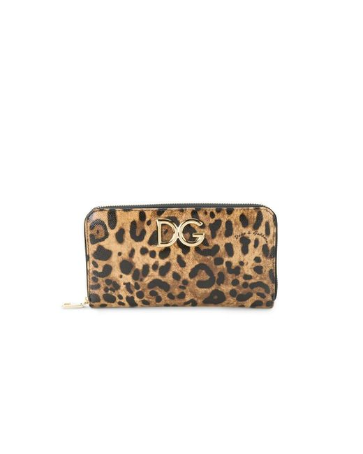 Dolce & Gabbana - Brown Continental Logo Plaque Wallet - Lyst