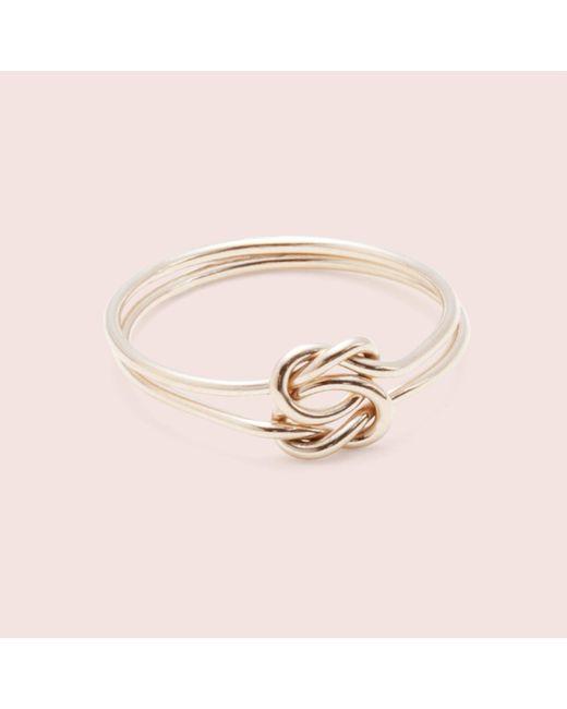 Erica Weiner - Metallic Lover's Knot Ring - Lyst