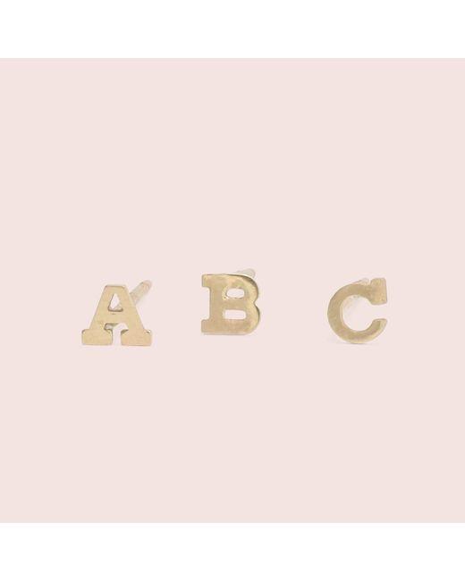 Erica Weiner - Pink Alphabet Studs - Lyst