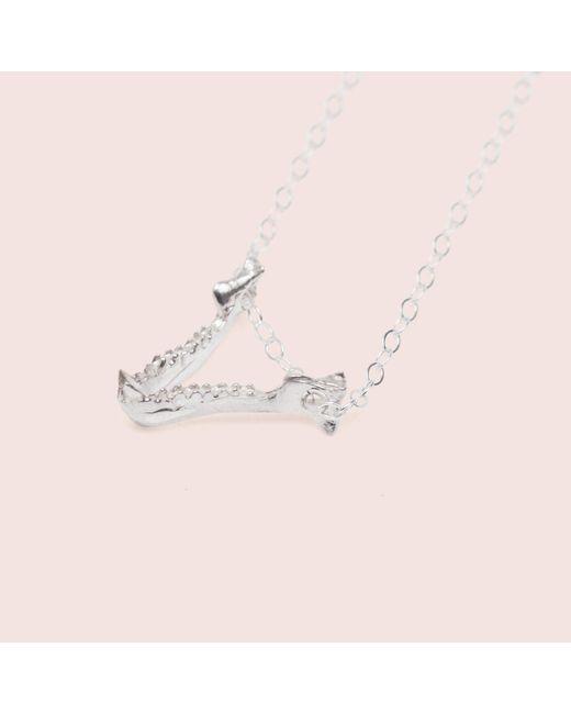 Erica Weiner - Metallic Bat Jaw Necklace (silver) - Lyst