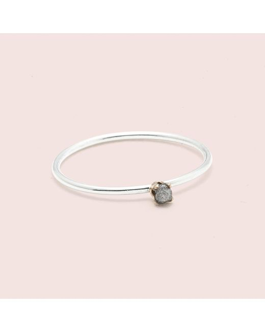 Erica Weiner - Metallic Diamondz & Pearlz Ring (grey Diamond, Silver) - Lyst