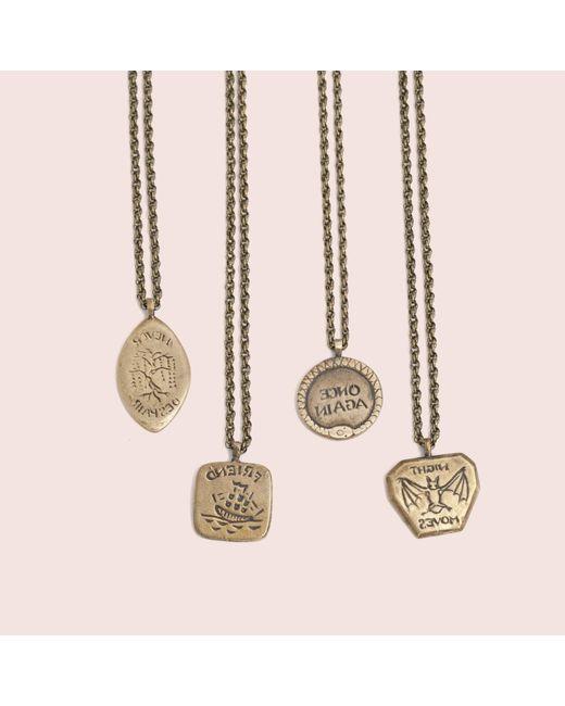 Erica Weiner   Metallic Intaglio Necklaces (brass)   Lyst