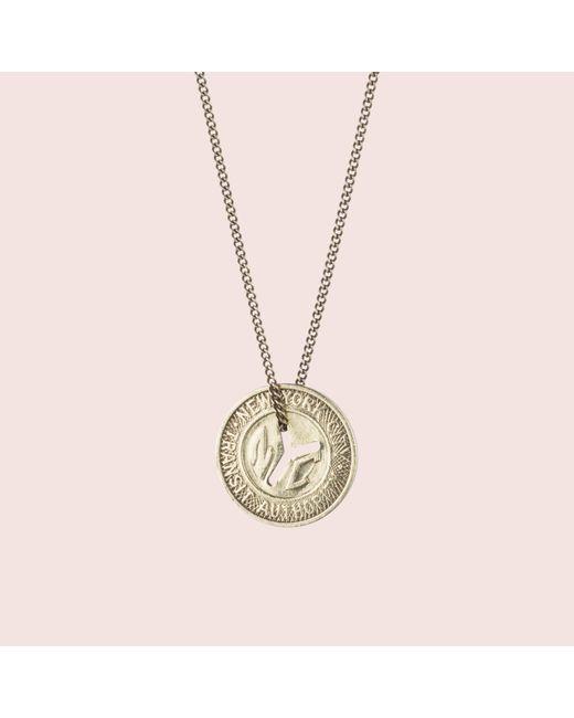 Erica Weiner - Metallic Ny Transit Token Necklace (small) - Lyst