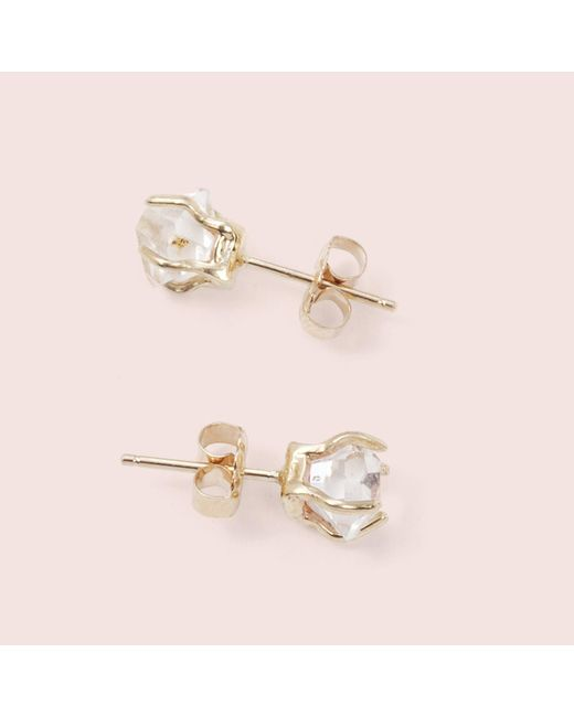 Erica Weiner Metallic Herkimer Diamond Earrings Lyst