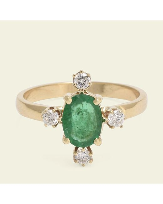 Erica Weiner | Multicolor Directional Ring (emerald) | Lyst