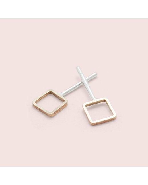 Erica Weiner - Metallic Shape Studs (square) - Lyst