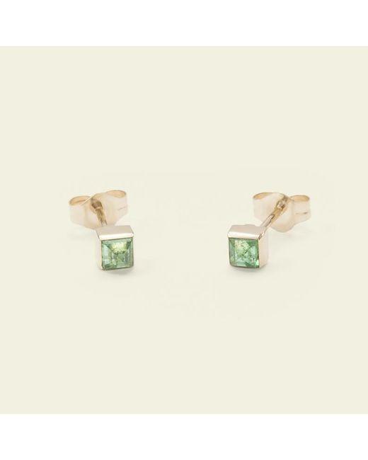 Erica Weiner - Metallic Pyramid Earrings (emerald) - Lyst
