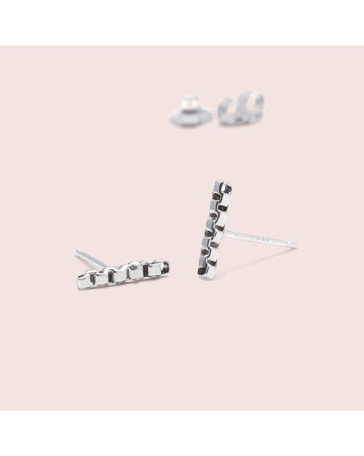 Erica Weiner   Metallic Chain Line Earrings (silver)   Lyst