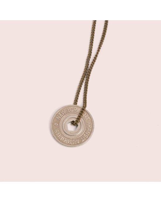Erica Weiner - Metallic Ny Transit Token Necklace (pentagon) - Lyst